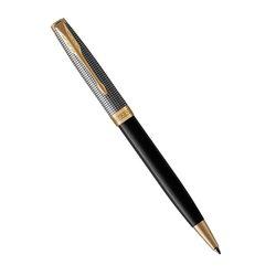 Шариковая ручка Parker Sonnet Chiselled Silver & Black GT