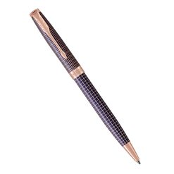 Шариковая ручка Parker Sonnet Chiselled Silver Purple Matrix PGT