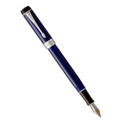 Перьевая ручка Parker Duofold Classic International Blue & Black CT