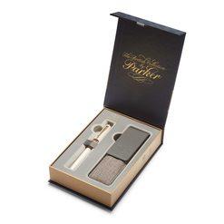 Подарочный набор 5й пишущий узел Parker Ingenuity Pearl PGT с чехлом