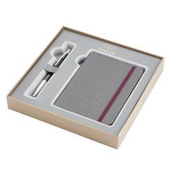 Подарочный набор шариковая ручка Parker Urban Premium Ebony Metal CT с записной книжкой