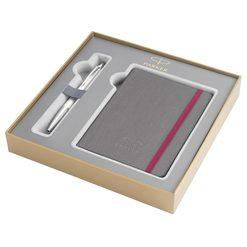 Подарочный набор шариковая ручка Parker Urban Premium Pearl Metal CT с записной книжкой