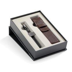 Подарочный набор перьевая ручка Parker Sonnet Laque Black СT с чехлом