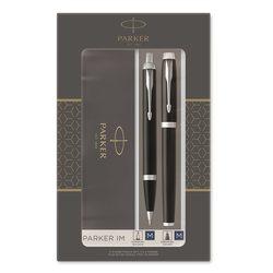 Подарочный набор шариковая ручка и перьевая ручка Parker IM DUO Black СT