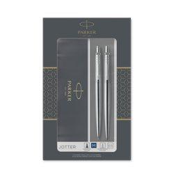 Подарочный набор шариковая ручка и механический карандаш Parker Jotter Stainless Steel CT