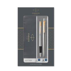 Подарочный набор шариковая ручка и перьевая ручка Parker Jotter Stainless Steel GT