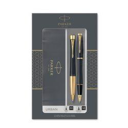 Подарочный набор шариковая ручка и ручка роллер Parker Urban Muted Black GT