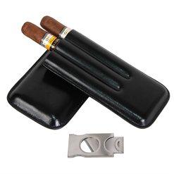 Футляр для 3-х сигар с гильотиной Aficionado