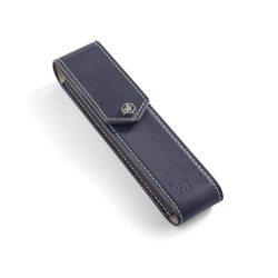 Кожаный чехол для ручки  Waterman Dark Blue