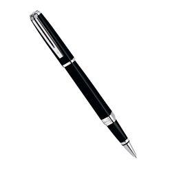 Ручка роллер Waterman Exception Slim Black ST
