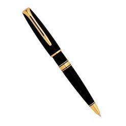Шариковая ручка Waterman Charleston Ebony Black GT