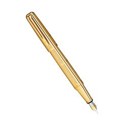 Перьевая ручка Waterman Exception Solid Gold