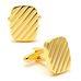 Запонки Mr. Cuff рифленый прямоугольник золотой