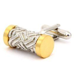 Запонки Mr. Cuff цилиндр филигранный золотой