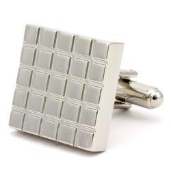 Запонки Mr. Cuff серебристые квадраты