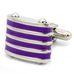 Запонки Mr. Cuff фиолетовые полосы эмаль