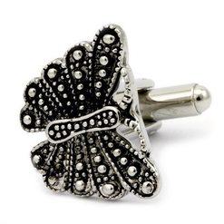 Запонки Metal Fun бабочка черная