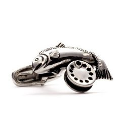 Запонки Metal Fun рыба с катушкой