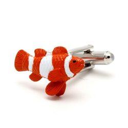 Запонки Metal Fun рыбка