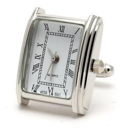 Запонки Metal Fun часы прямоугольные