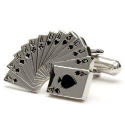 Запонки Metal Fun колода карт