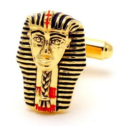 Запонки Metal Fun маска фараона