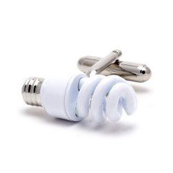Запонки Metal Fun энергосберегающая лампочка