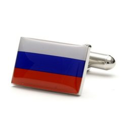 Запонки Metal Fun флаг России