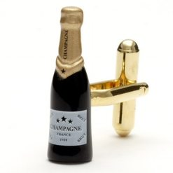 Запонки Metal Fun бутылка шампанского