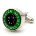 Запонки Metal Fun компас зеленый